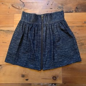 WILFRED Wool/Cotton High Waisted Mini Flare Skirt